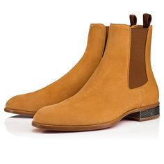 Christian Louboutin United States Official Online Boutique - Samsocool Flat Avoine Suede available online. Discover more Men Shoes by Christian Louboutin Men's Shoes, Shoe Boots, Dress Shoes, Shoes Style, Botas Outfit, Suede Chelsea Boots, Chelsea Shoes, Casual Boots, Leather Boots