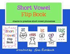 Short Vowel Flip Book and simple chants to practice short vowel phonemes $