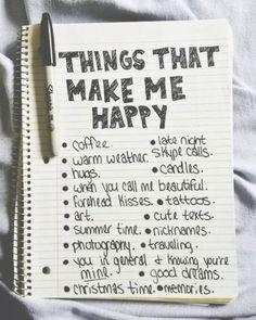 Things that make me happy list