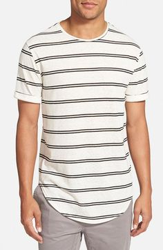 The+Rail+Rolled+Sleeve+Stripe+T-Shirt+available+at+#Nordstrom