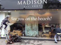 Madison Perfumery / Making of/ Window Display by Mihaela Damian Visual Merchandising, The Hamptons, Broadway Shows, Windows, Display, Beach, Fragrance, Floor Space, Billboard