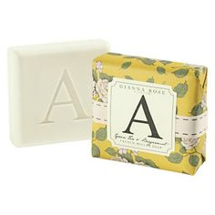"""A is for Apple. Or Amanda. Or Anderson. Give this bar soap engraved with the letter """"A"""" to someone special. Available in letters A, B, C, D, E, G, H, I, J, K, L, M, N, P, R, S, T, V, W and Y."""