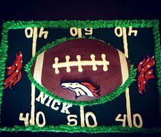 Broncos themed Happy Birthday Cake