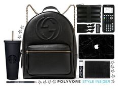 """""""School is such a bore"""" by brynhawbaker on Polyvore featuring Emi-Jay, Gucci, Chapstick, Christian Louboutin, Lord & Berry, backpacks, contestentry and PVStyleInsiderContest"""