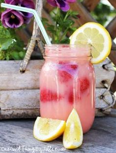 Brazilian {Strawberry} Lemonade . . . Summertime In A Glass!One Good Thing by Jillee