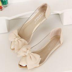 4ff5cc5cd774 Cute Slip On Bowknot Flat Shoes. Dámska ObuvŠtýlové ŠatySvadobné ...