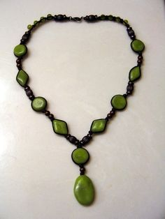 Green Polymer Clay Necklace : Image 1 of 2