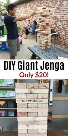 Outdoor Jenga, Jenga Diy, Outdoor Yard Games, Jenga Game, Backyard Games, Outdoor Fun, Large Jenga, Giant Jenga, Giant Yard Games