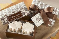 Elegantly-packaged scented soaps are fitting for the season.