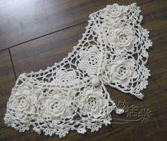 Handmade crochet flower vintage fine cotton three dimensional flowers false collar cape on Aliexpress.com | Alibaba Group