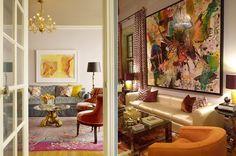 The Decorista-Domestic Bliss: Lana Gomez. Oversized Mirror, Bliss, Art Photography, Interior Design, Living Rooms, Art Ideas, Painting, Interiors, Colour