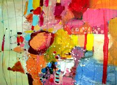 it's sort of like that Wendy McWilliams 30x40 inches #colorful #abstract #art