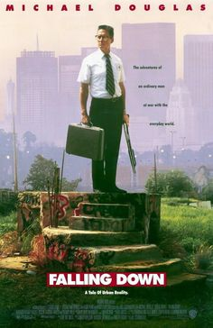 """They can be seen below. """"FALLING DOWN"""" - 1992 Original Studio Issued. a""""FALLING DOWN"""" cover folder (pic 1 below). This press kit includes. Classic Movie Posters, Movie Poster Art, Classic Movies, 90s Movies, Great Movies, Movies To Watch, Films Cinema, Cinema Posters, Love Movie"""