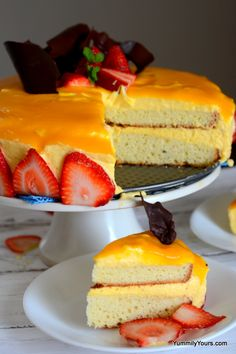 """This eggless, gelatin-free Mango mousse cake is creamy, soft and the perfect way to celebrate the King of fruits """"Mango"""". Mango Desserts, Mango Mousse Cake, Mango Cake, Let Them Eat Cake, Gelatin, Cupcake Cakes, Cupcakes, Cake Recipes, Sweets Recipes"""