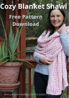 Free Knitting, Knitting Patterns, Free Pattern Download, Blanket Shawl, Cozy Corner, Cozy Blankets, Weather, Warm, Fun