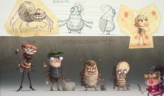 Cockroaches... feature animation project by Artur Gorczynski, via Behance