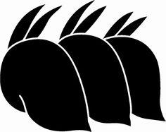 後ろ向き三つ並び兎( kamon (家紋), are Japanese emblems used to decorate and identify an individual or family.)