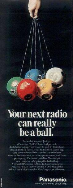 "Panasonic Panapet Dec 71 December 1971 Panasonic Panapet"" AM Radio US. Mine was green. I loved that radio! Vintage Toys 1960s, Retro Toys, Vintage Ads, 1960s Toys, Vintage Stuff, Childhood Toys, Childhood Memories, Sweet Memories, Oldies But Goodies"