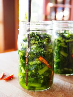 Vietnamese Pickled Mustard Greens, from Garden Betty