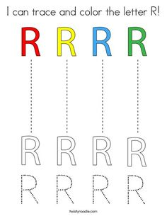 Letter R Crafts, Preschool Letter Crafts, Letter Activities, Kid Crafts, Preschool Curriculum Free, Free Preschool, Preschool Worksheets, Preschool Learning, Tracing Letters