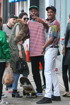 Social hour! Kendall Jenner grinned with glee as she hung out with Odd Future members Tyle...