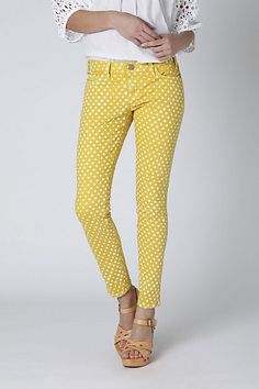 Current Elliott polka dot jeans, Anthro. YES! I really like these, if I'm ever thin again-though...