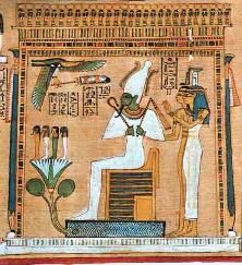 The name Jesus contains the name Isis (J+Isis = This Jesus. The J was like the word This or The). His teachings of love are more like the teachings of Isis, the Goddess of Love, than those of Jehovah, the jealous and wrathful God. Photo: Queen Isis with Assur as King of the afterlife and Judge of the Dead.