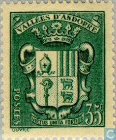 Stamps - Andorra - French - Landscapes 1937