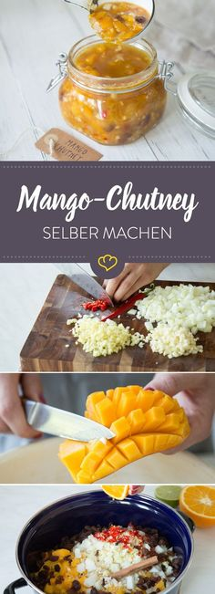Mango chutney, probably the most prominent of all chutneys in Germany - and maybe . - Mango chutney, probably the most prominent of all chutneys in Germany – and perhaps the best thin - Korma, Indian Food Recipes, Asian Recipes, Ethnic Recipes, Indian Snacks, Tzatziki, Chutneys, Salsa Picante, Chutney Recipes