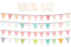 Bunting Flags Clip Art by Angie Makes on Creative Market