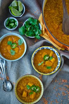 blissfulb - bliss blog - blissful eats with tina jeffers: Coconut, squash and red lentil soup.