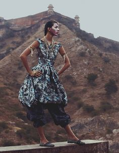Drapery fashion: Kate King in Dior SS14 jacquard dress for How To Spend It by Andrew Yee