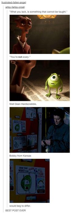 Monsters Inc + Supernatural = Amazing