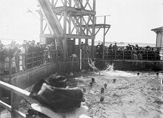 Ruuhkaa Ursinin uimalaitoksessa noin vuonna 1900.
