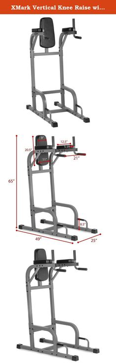 XMark Vertical Knee Raise with Dip Station XM-4437.1. The XMark Vertical Knee Raise with Dip Station will provide defined abs, stronger arms, a well-developed chest, and a strong back. While the vertical knee raise station targets your core and abs the push-up station focuses on your chest. Twin dip handles are ergonomically spaced to help give a great dip workout to strengthen arms and shoulders. Simple, basic, rugged and, most of all, effective, the XM-4437 vertical knee raise enables…