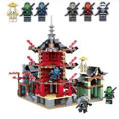 32.20$  Watch now - https://alitems.com/g/1e8d114494b01f4c715516525dc3e8/?i=5&ulp=https%3A%2F%2Fwww.aliexpress.com%2Fitem%2F2016-LEPIN-Ninjagoed-series-THE-Temple-of-Airjitzu-model-Building-Blocks-Mini-figures-Classic-Toys-Compatible%2F32722659720.html - Ninja Temple of Airjitzu Ninjagoes Smaller Version Bozhi 737 pcs Blocks Set Compatible with Toys for Kids Building Bricks