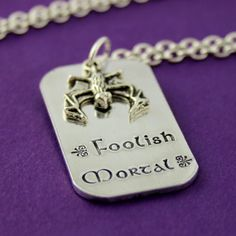 Haunted Mansion Necklace  Foolish Mortal  by SpiffingJewelry, $24.00