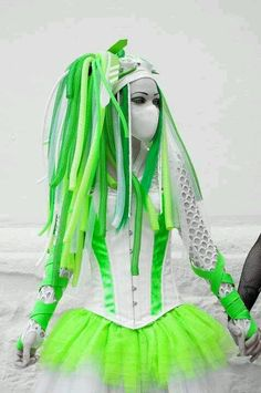 Cyber goth gothic. love the neon green!