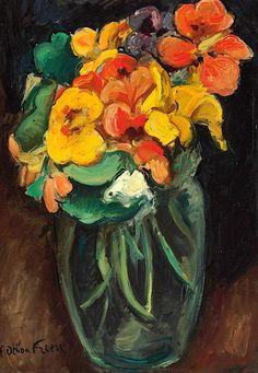 Emile Othon Friesz (1879-1949)  Bouquet de capucines