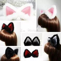 orejas de gato en peluche 3d. con interior de varios colores                                                                                                                                                                                 Más