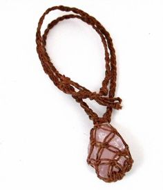 Rose Quartz Double Wrapped Hemp Necklace  by BeadedHemptations, $24.99