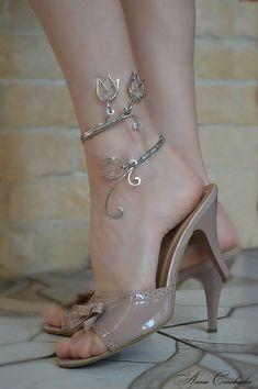 anklet  anklet bangle  body jewelry  foliage   от AlenaStavtseva