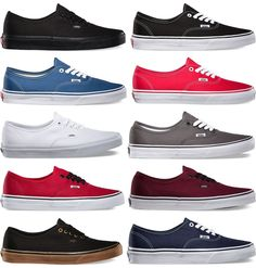 1233f296 Vans Authentic Era Classic *Real* Sneakers Canvas Mens Women Off The Wall  Laces