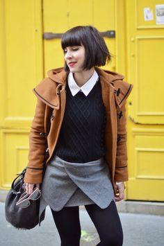 Helloitsvalentine streetstyle fashion blog paris skirt Dr Martens Montmartre