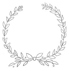 Free Printable Laurel Olive Wreath Design For Furniture And Chalkboards