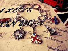 Union Jack Heart London Bracelet  British / English by BritHeart, pinned by www.funkyfabrix.com.au