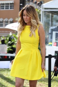Lauren Conrad - Love the hair and this dress!! Even more if it was in peach/abricot!