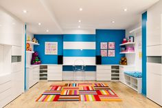 Kids play area made with Parallel Reality carpet tiles by FLOR