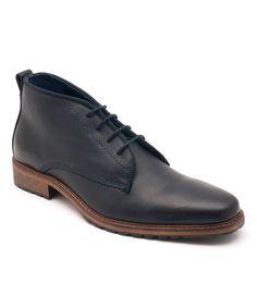 Navy Riverdale Leather Boot Botas 1e951558d9464
