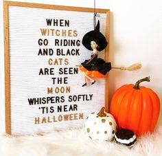 If this doesn t make you feel all festive-y nothing will And how about those gold spray painted letters restlessrisa risabaker Letterfolk Halloween Quotes, Halloween Kostüm, Halloween Cupcakes, Holidays Halloween, Halloween Decorations, Halloween Room Decor, Halloween Letters, Whimsical Halloween, Halloween Signs